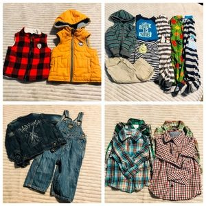 5 LB Baby Boy 12 Month Bundle Winter Spring LOT